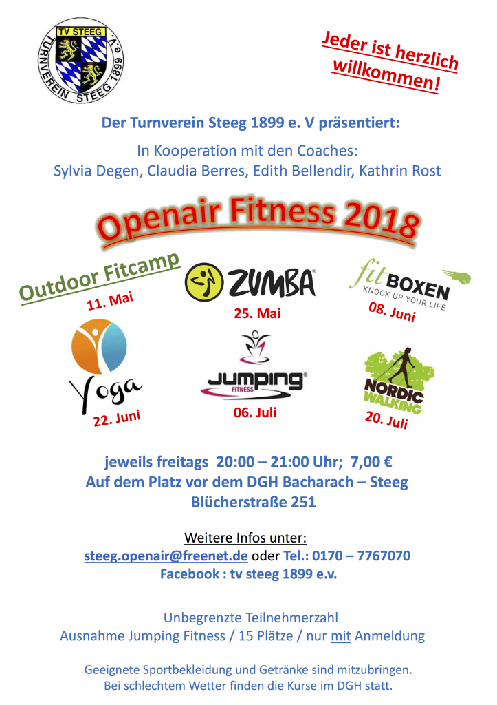 TV 2018 Outdoor Fitness Plakat